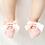 Thumbnail: La petite surprise Couture - 1 Paar Baby Socken Rosa Gr.0-12 Monate