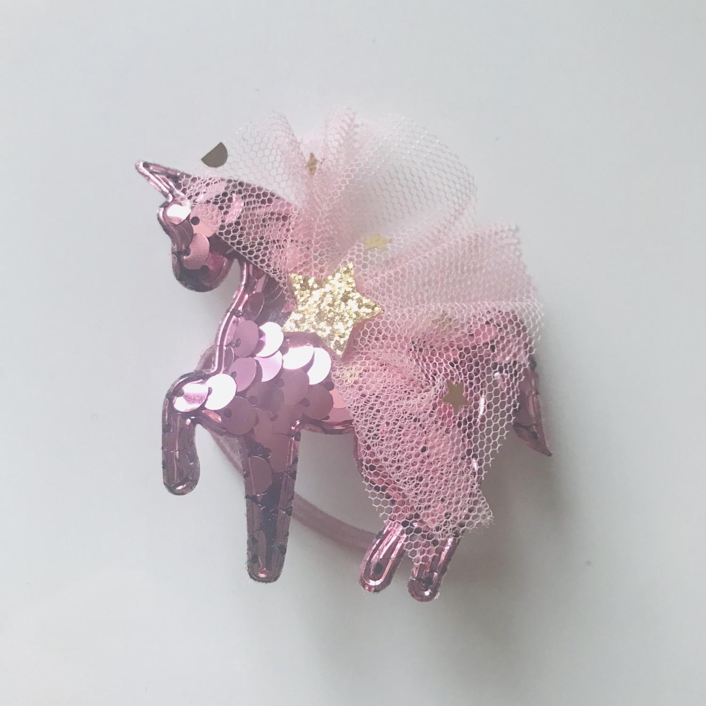 Thumbnail: La petite surprise Couture Haargummi Einhorn Rosa