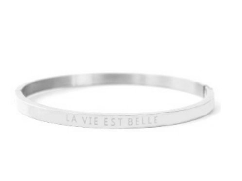 "Armband aus Stainless Steel - ""LA VIE EST BELLE"" Silber"
