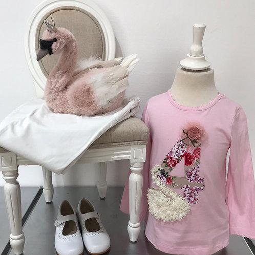 La petite surprise Couture Birthday Shirt Gr.4 Jahre / 104 cm