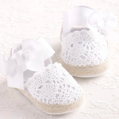 La petite surprise Couture Baby Schühchen Weiß