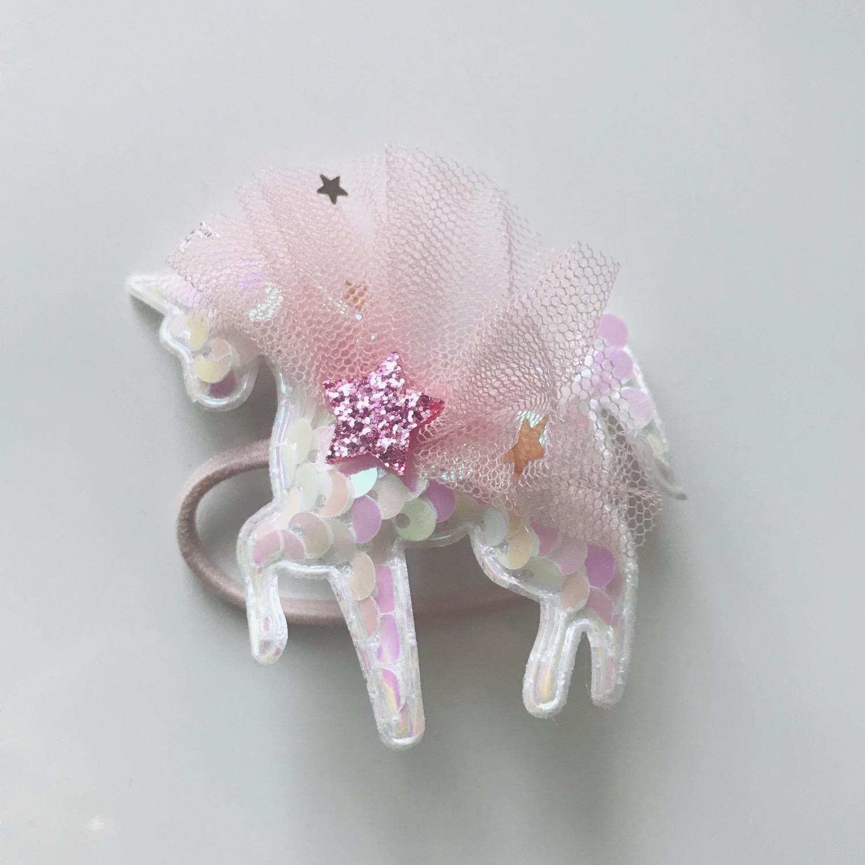 Thumbnail: La petite surprise Couture Haargummi Einhorn Weiß
