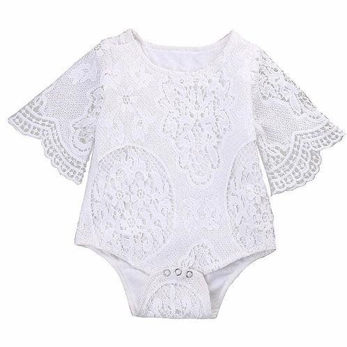 La petite surprise Baby Couture Spitzen Body Weiß