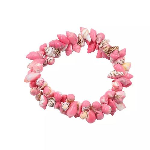 La petite surprise Couture Muschel Haargummi / Armband Rosa