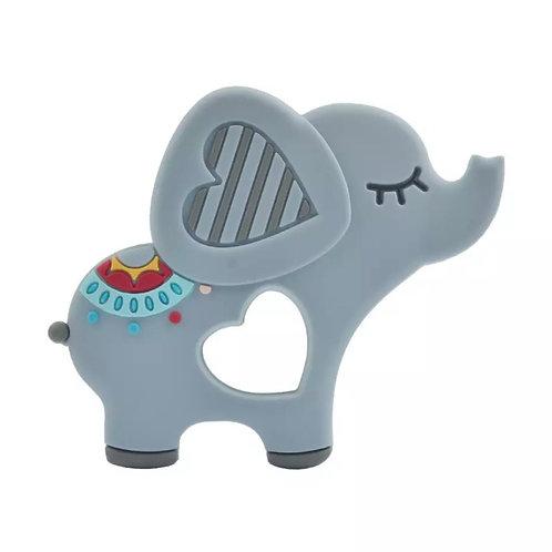 La petite surprise Couture Baby Beißring Elefant Grau
