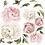 Thumbnail: La petite surprise Couture Wandaufkleber Pfingstrosen Altrosa 6x45 cm