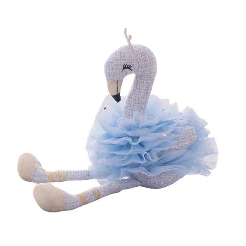 La petite surprise Couture Stofftier Flamingo Blau
