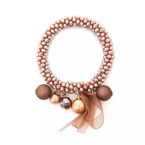 La petite surprise Couture Crystal Haargummi / Armband Amber