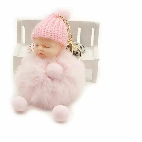 La petite surprise Couture Baby Anhänger Pompom Hellrosa