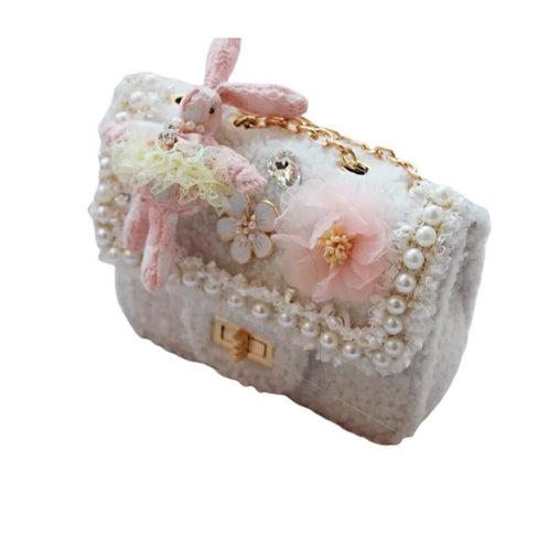 La petite surprise Couture Boucle Täschchen Bunny Weiß