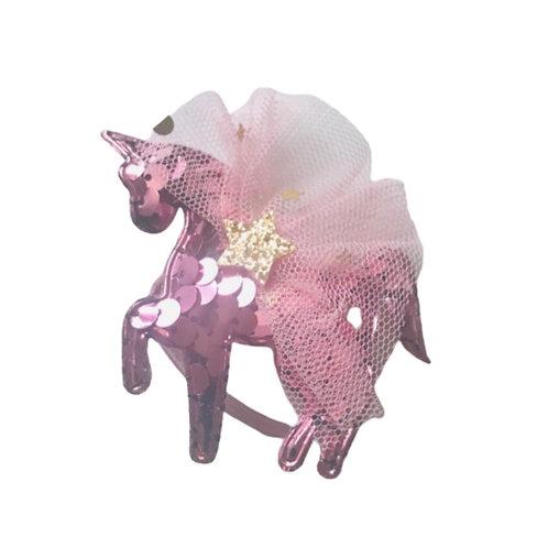 La petite surprise Couture Haargummi Einhorn Rosa