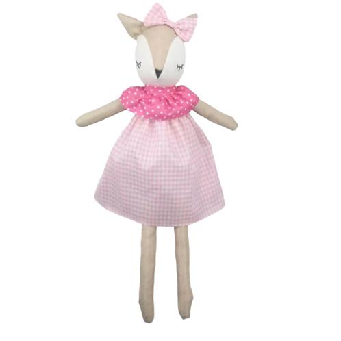 La petite surprise Couture Stofftier Bambi Rosa 60 cm