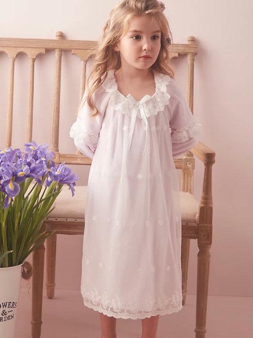 La petite surprise Couture Nachthemd Danielle Weiß