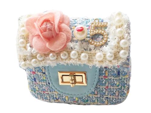 La petite surprise Couture Boucle Täschchen Hellblau