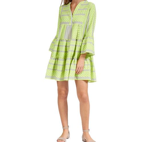 La petite surprise Couture Boho Kleid Neongelb