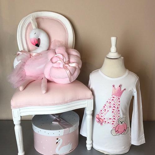 La petite surprise Couture Birthday Shirt 4 Jahre / 104 cm