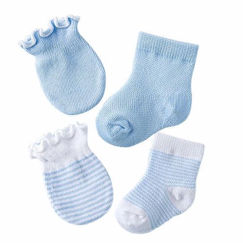 La petite surprise Baby Couture Set Hellblau