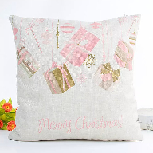 La petite surprise Couture Kissen Hülle Creme Merry Christmas