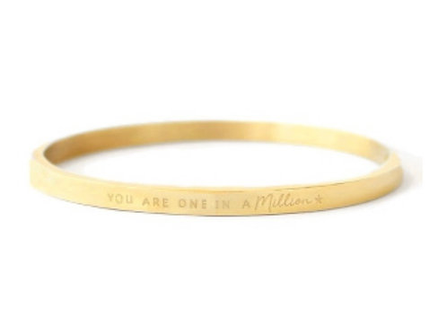 """Armband aus Stainless Steel - """"YOU ARE ONE IN A MILLION"""" Gold"""