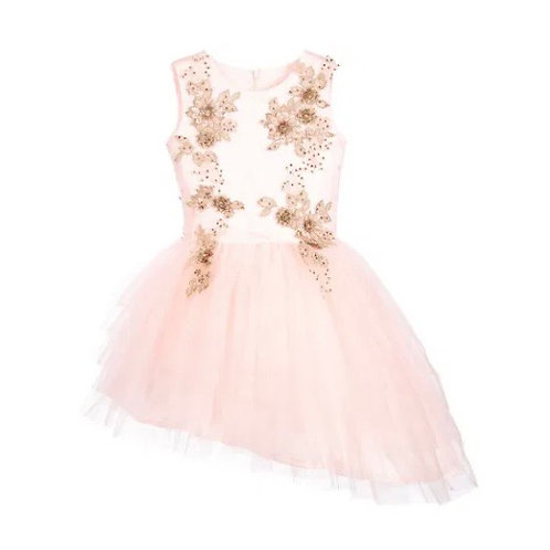 Le Mu London - Couture Tüllkleid in Rosa und Gold