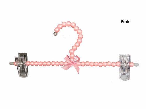 La petite surprise Couture Kinder Klipp-Kleiderbügel Perlen Rosa 25 cm