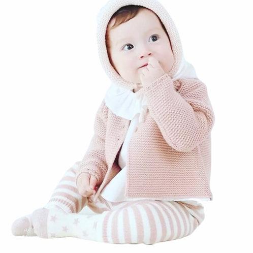 La petite surprise Baby Couture Strickjacke Puderrosa