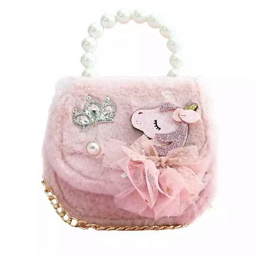 La petite surprise Couture Plüsch Tasche Einhorn Rosa