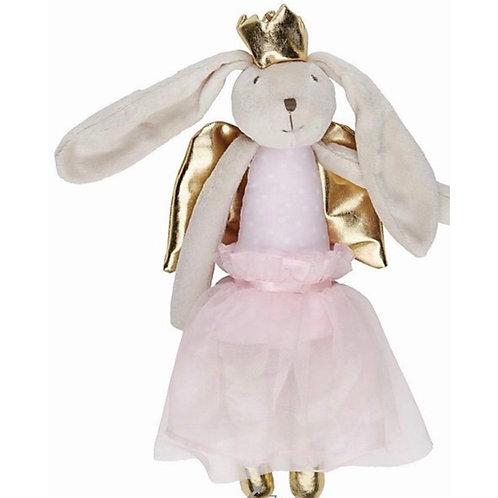 La petite surprise Couture Plüschtier Engel Bunny Rosa 36 cm
