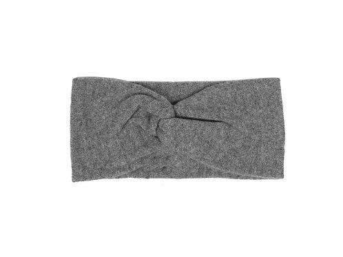 Zwillingsherz - Stirnband 100% Cashmere Classic Grau
