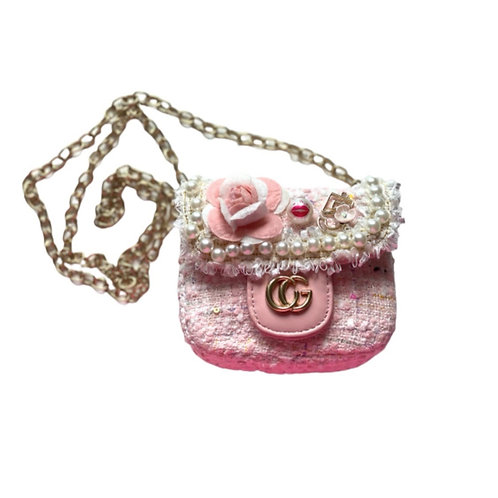 La petite surprise Couture Boucle Täschchen Schleife Rosa