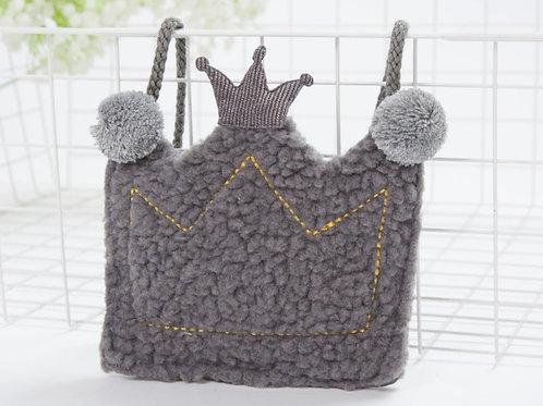 La petite surprise Couture Täschchen Krone Grau