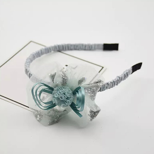 La petite surprise Couture Haarreifen Blume Mint