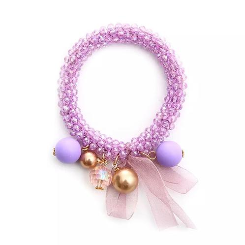 La petite surprise Couture Crystal Haargummi / Armband Lila