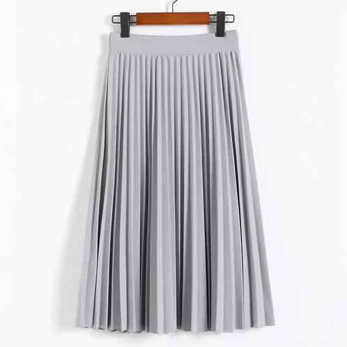 La petite surprise Couture Plissee Rock Grau