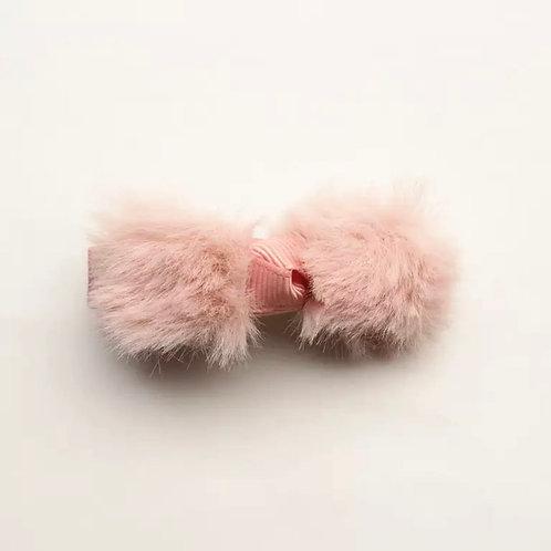 La petite surprise Couture Haarspange Fell Schleife Rosa