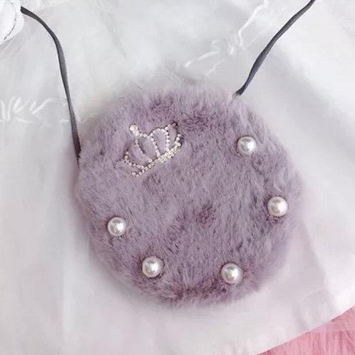 La petite surprise Couture Plüschtäschchen Grau