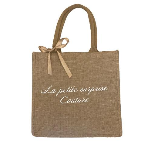 La petite surprise Couture Jute Shopper Beige