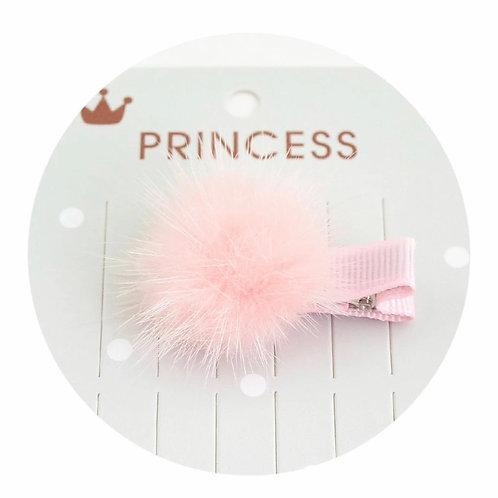 La petite surprise Couture Haarspange Pompom Rosa