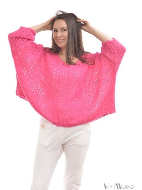 V Milano - Pullover V. Lora Oversize Pink
