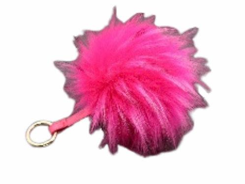 La petite surprise Couture Anhänger mit Fellbommel Pink