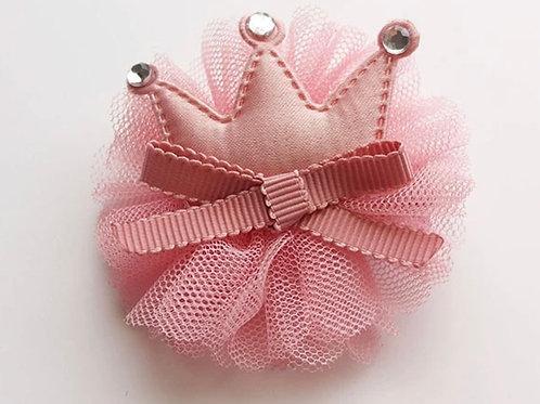 La petite surprise Couture Haarspange Krone Rosa