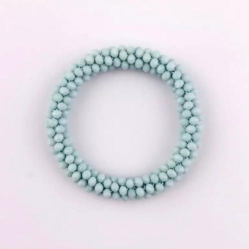 La petite surprise Couture Crystal Haargummi / Armband Hellblau