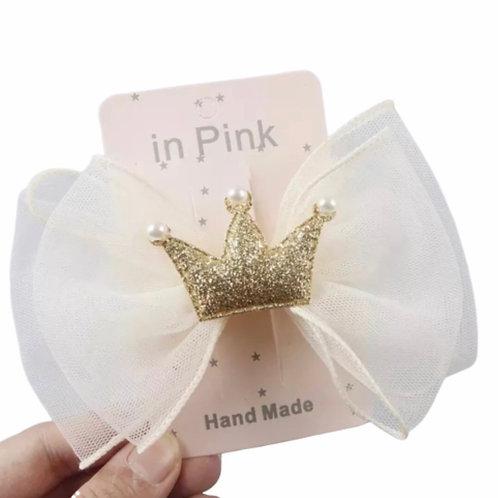 La petite surprise Couture Haarspange Schleife Gold