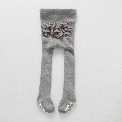 La petite surprise Baby Couture Strumpfhose Grau 0-2 Jahre