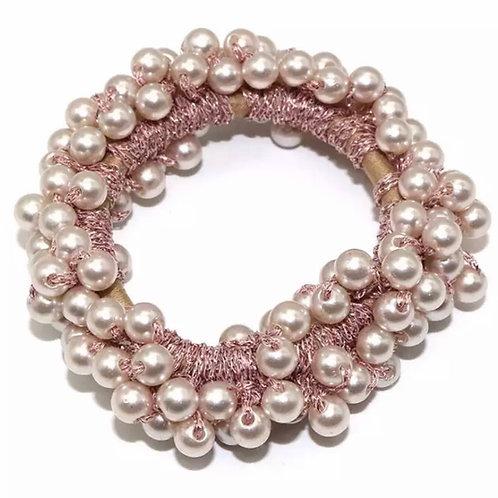 La petite surprise Couture Perlen Haargummi / Armband Rosa
