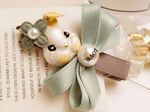 La petite surprise Couture Haarspange Bunny Pistazie