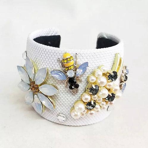 La petite surprise Couture Armband Weiß