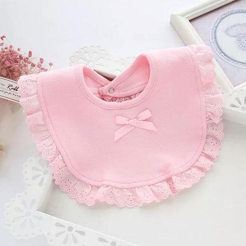 La petite surprise Couture Baby Lätzchen Spucktuch Rosa