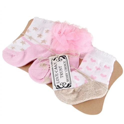 La petite surprise Couture Baby Set - 3 Paar Socken