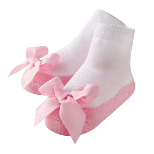 La petite surprise Baby Couture Socken Rosa Gr.0-12 Monate